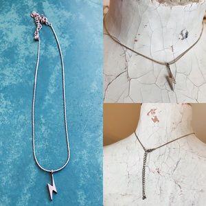 Vintage 90s Lightning Bolt Necklace